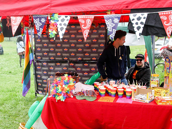 A stall at York Pride with Rainbow Cups!