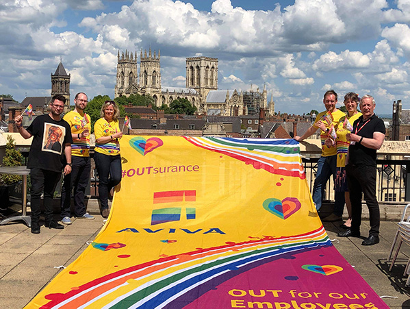 Aviva have signed a deal to be Main Sponsor and Partner of York Pride until 2022!